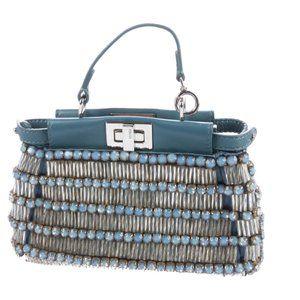 FENDI Embellished Micro Peekaboo Bag
